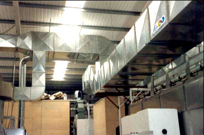 commercial heating factory ventilation