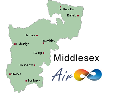 Air conditioning Middlesex, Middx, Brentford, Eastcote, Edgware, Enfield, Feltham, Hanworth, Harefield, Harrow, Hayes, Hounslow, Isleworth, Northwood, Ruislip, Southall, Twickenham, Uxbridge, Wembley, West Drayton,