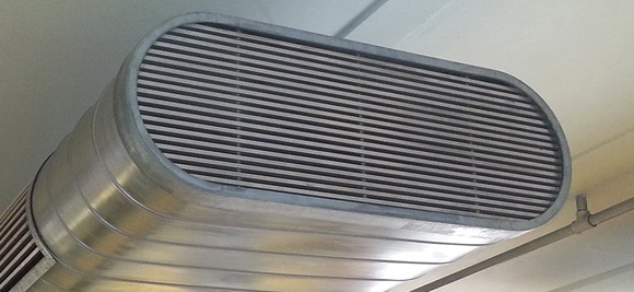 air intelligence oval ducting exposed visible